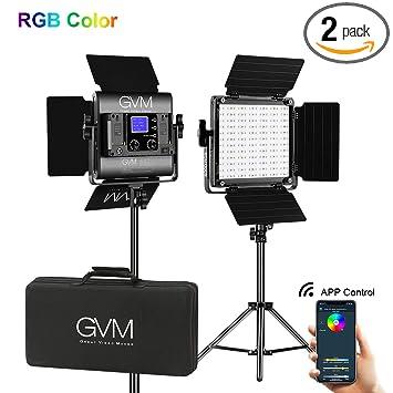 Amazon.com: GVM 480 LED Panel de vídeo luz regulable bicolor ...