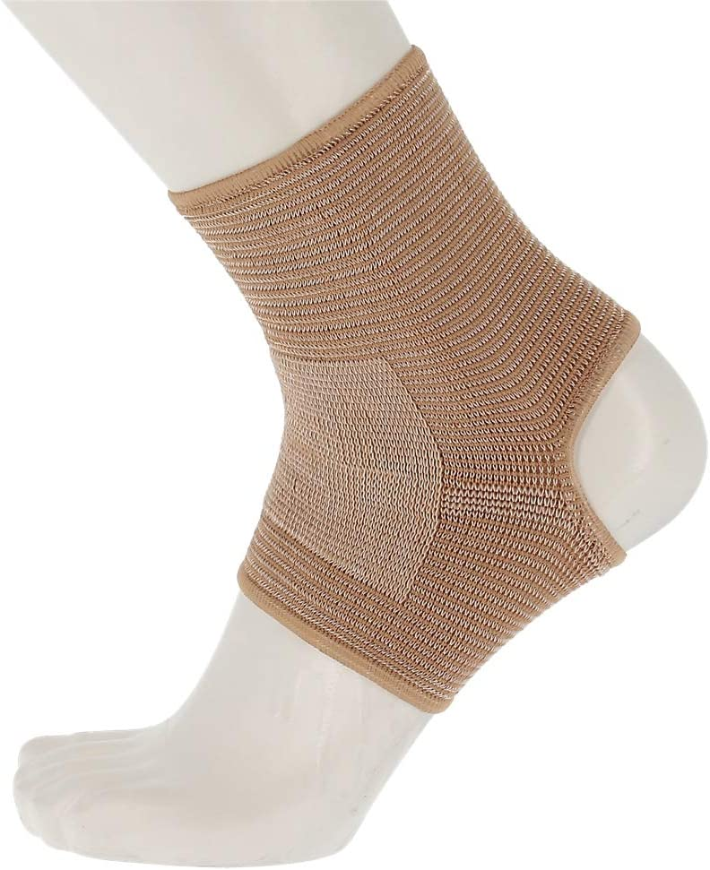 """Actifi I Firm Ankle Support Sleeve -8.25"""" Elastic Compression Pullover Brace"""