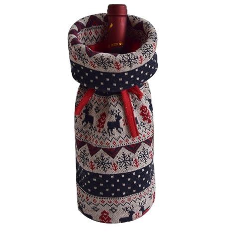 Amazon.com: gireshome Cable Punto Deer Botella de vino cover ...