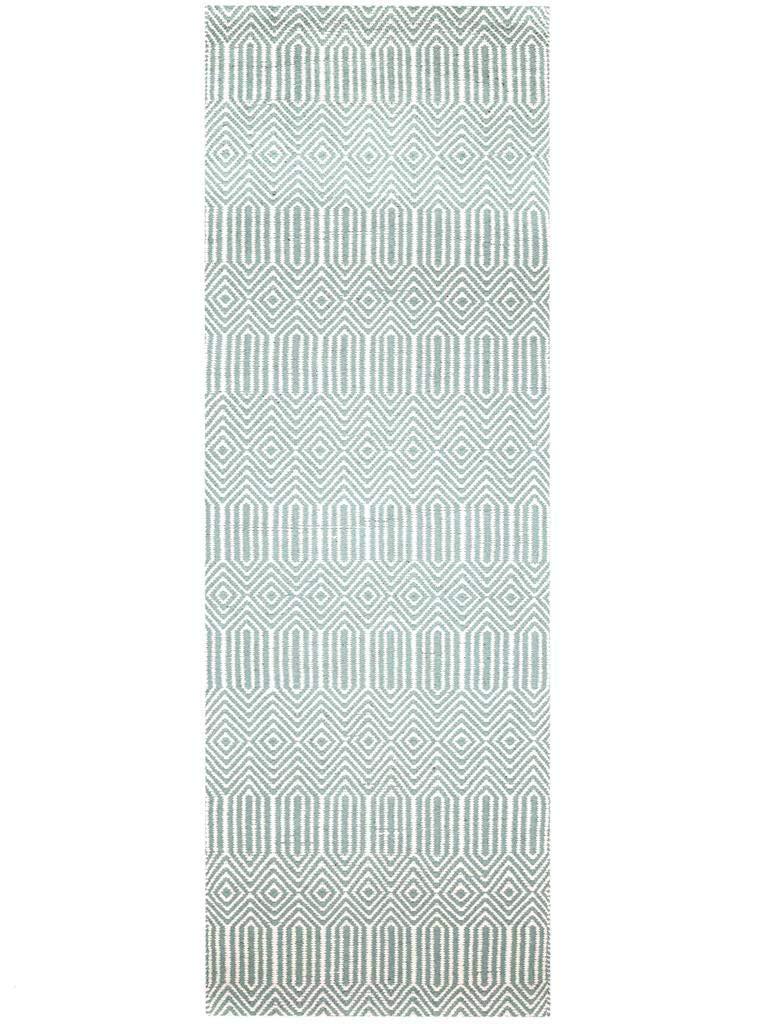 Benuta Teppich Läufer Sloan Türkis 80x300 cm   Moderner Teppich für Wohn- und Schlafzimmer