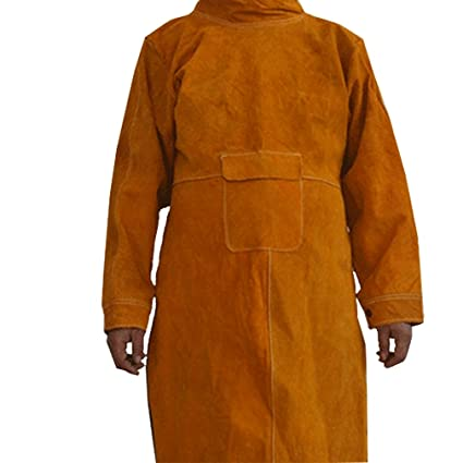 Safety Clothing Workplace Safety Supplies Durable Leather Welding Long Coat Apron Protective Clothing Apparel Suit Welder Workplace Safety Clothing