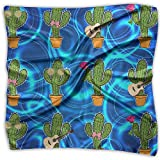 Cactus With Sunglasses Hip Hop Cactus Women's Fashion Silk Neckerchief Square Scarf Headdress S Satin Neck Headscarf