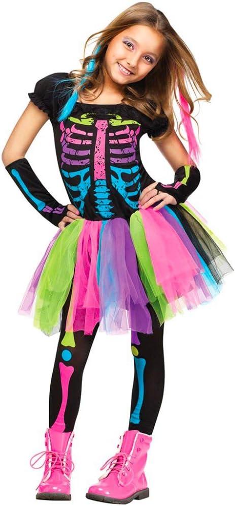 DMMDHR Halloween Disfraz de Halloween para niños Niñas Funky Punky ...