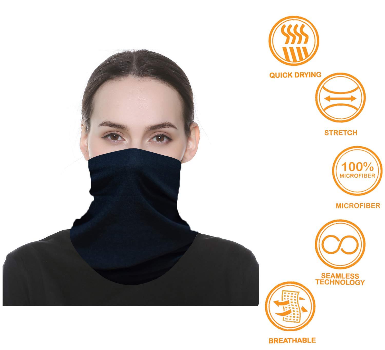 WONBURY Bandana Headband Wrap Neck Gaiter Headwrap Balaclava Helmet Liner Scarf UV Versatile Facemask Lightweight Sports /& Casual for Outdoor Climbing Camping Hiking