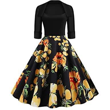 Lover-Beauty Vestido Corto Mujer Vintage - Vestido Mujer Hepburn ...