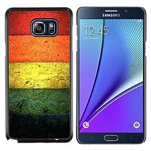 YiPhone /// Prima de resorte delgada de la cubierta del caso de Shell Armor - Color de hormigón - Samsung Galaxy Note 5 5th N9200