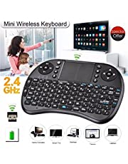 Mini Teclado Inalambrico Con TouchPad, MINI TECLADO SMART TV RECEPTOR USB, 10m de Alcance, compatible con varias consolas de videojuegos, TV Smart, LAPTOP, PC, TABLET BEST QUALITY