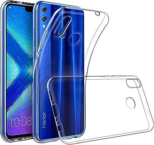 REY - Funda Carcasa Gel Transparente para Huawei Honor 8X, Ultra Fina 0,33mm, Silicona TPU de Alta Resistencia y Flexibilidad: Amazon.es: Electrónica