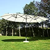 Sunny days are great, but sometimes you just need a little shade. Other times you need to beat the rain or wind. Relax outside on any type of day with a protective outdoor double-sided umbrella from Outsunny. It's never too early to start planning yo...