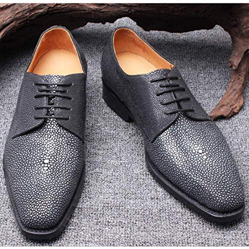 Stylish Scarpe Uomo Business Casual Mano Stringate Black Casual Pelle A Comfortable Scarpe in Fatte da qHCFap