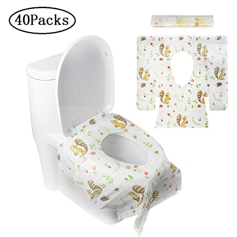 Superb Lovely Disposable Toilet Seat Covers Travel Toilet Seat Covers Pocket Size Potty Training Potty Seat Cover With Individually Wrapped For Adults Kids Pdpeps Interior Chair Design Pdpepsorg