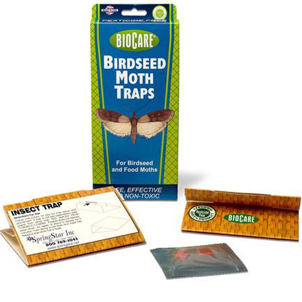 BioCare   Superior Birdseed & Pantry Moth Traps with Pheromone Lure (Contains 8 Complete Traps)   Non-Toxic & Pesticide Free   Child & Pet Friendly  Made in USA by BioCare