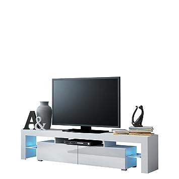 Fernsehschrank weiß matt  TV Schrank Solo, Unterschrank mit LED, Fernsehschrank, TV Lowboard ...