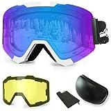 Gafas de Esquí, eDriveTech Máscara Gafas Esqui Snowboard ...