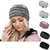 Warm Winter Headband for Women Warm Headband Fuzzy Fleece Lined Stretch Thick Cable Knit Head Wrap Ear Warmer
