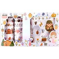 N\O Cyjzheu Stickers en Washi Tape Set Multi-Patroon Decoratieve Washi Tape Decoratieve Tape Plakboek Schattig Girly…