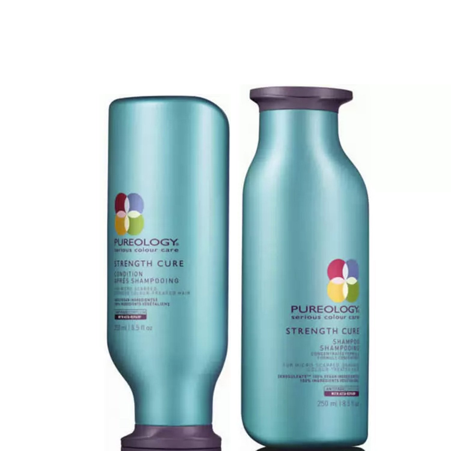 Pureology Strength Cure Shampoo and Conditioner Set, 8.5 Ounces Each