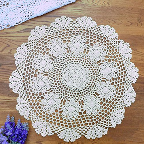 yazi Crochet Cotton Coasters 19 6 inch