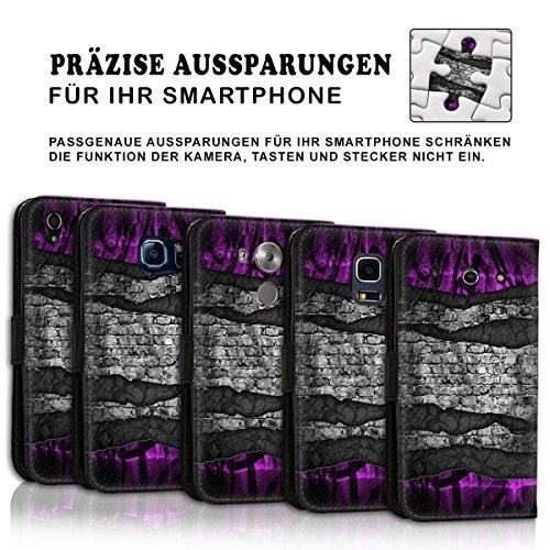 Wallet Book Style Flip Handy Tasche Case Schutz Hülle Schale Motiv Etui für Apple iPhone 6 / 6S - Design Flip MVD71