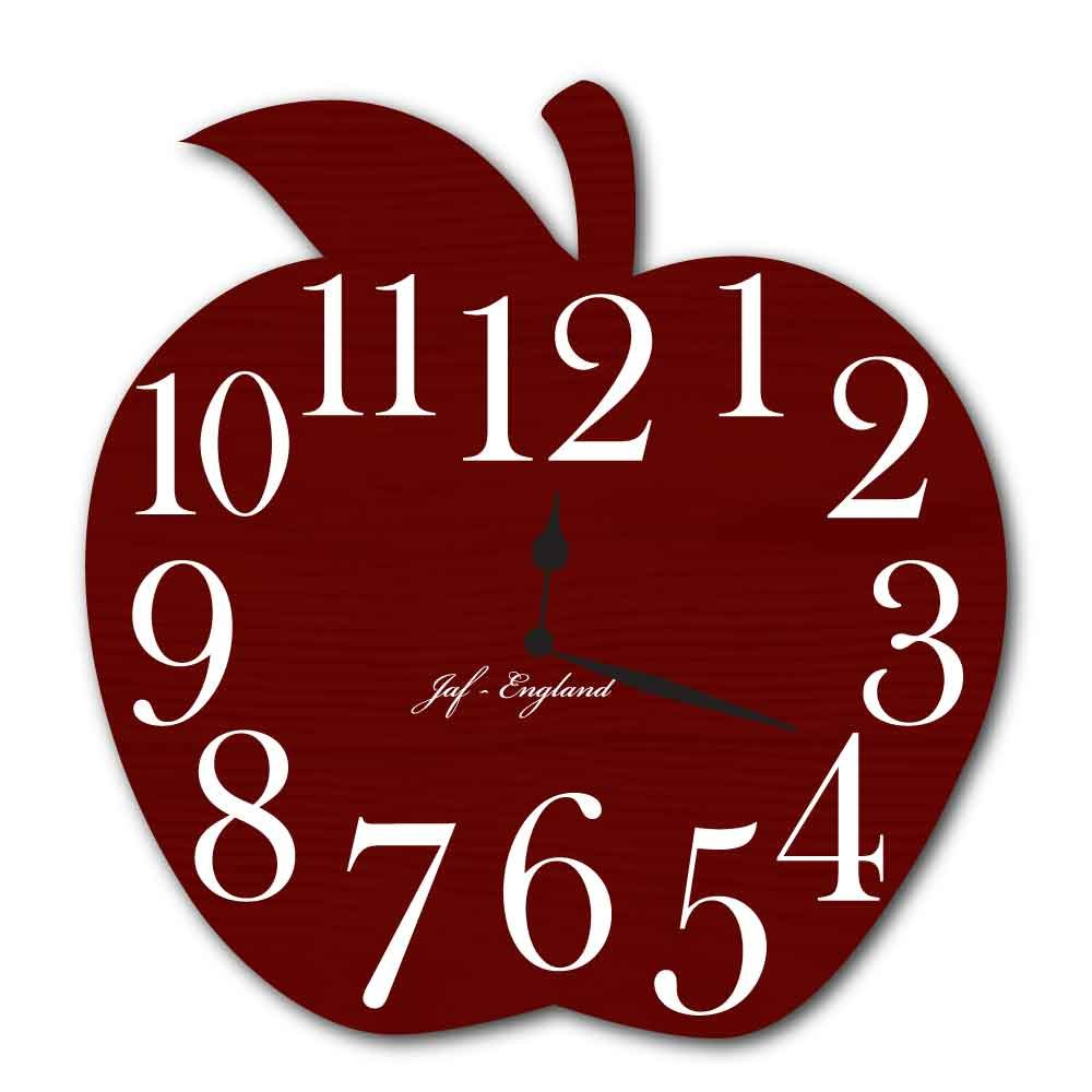 Cute Apple Clock Pretty Wooden Style Wall Clock Apple Shaped Clock Load of Colours