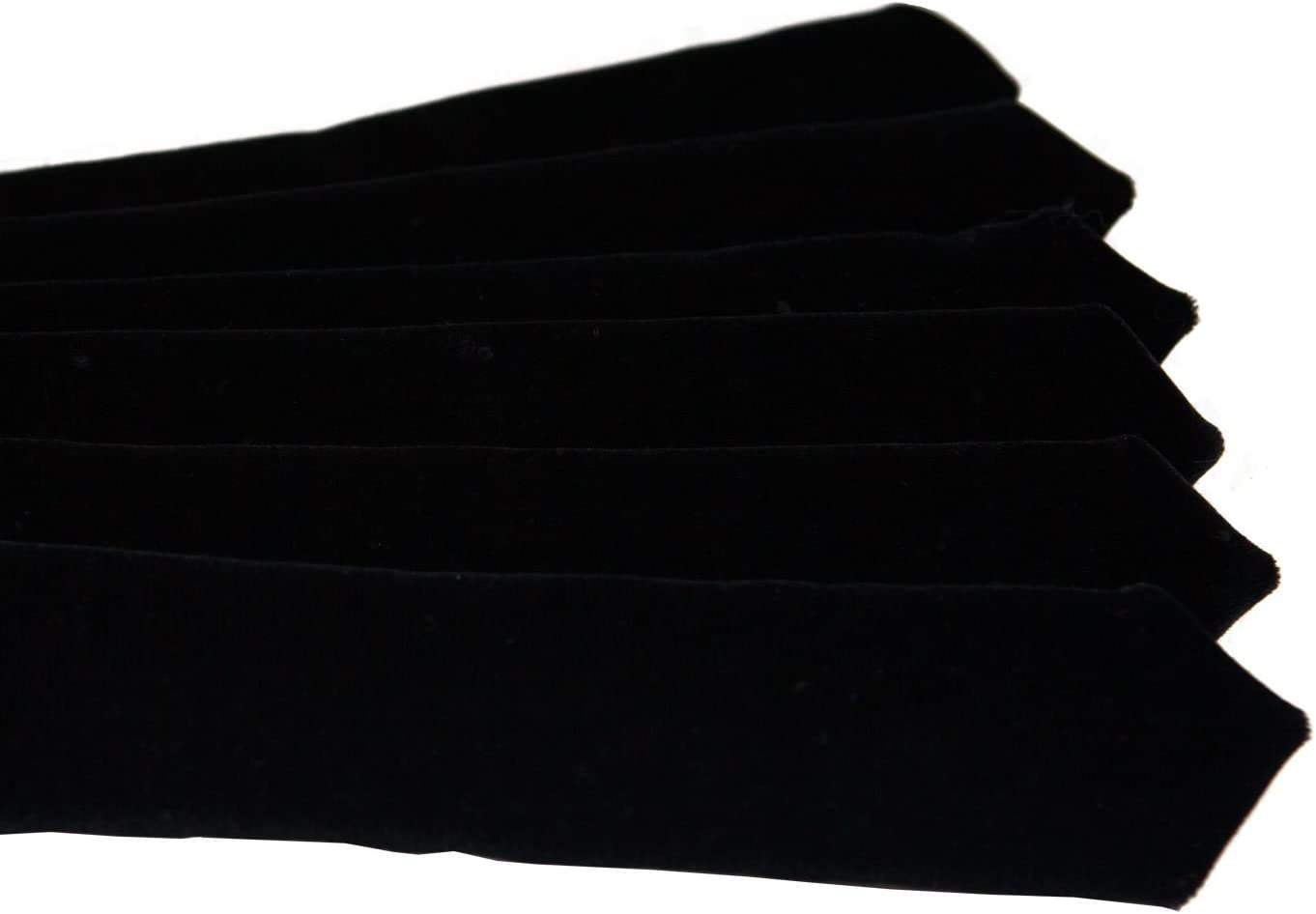 Velvet Doctor s Bars Chevrons Black Set of 6 Bars for Clergy or Judicial Robes
