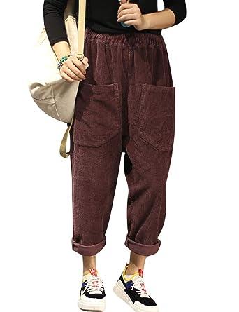 größte Auswahl 100% Spitzenqualität 100% Qualität Youlee Damen Elastische Taille Große Taschen Haremshose ...
