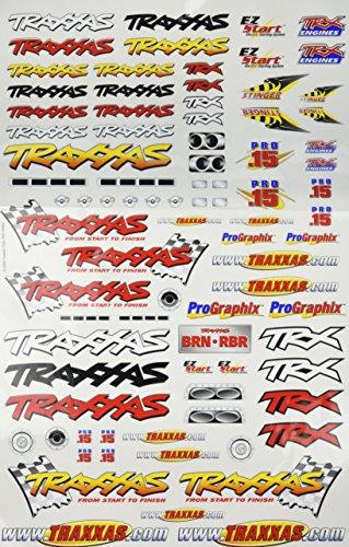 Traxxas 9950 Team Traxxas Decal Sheet - Vintage Decal Sheet