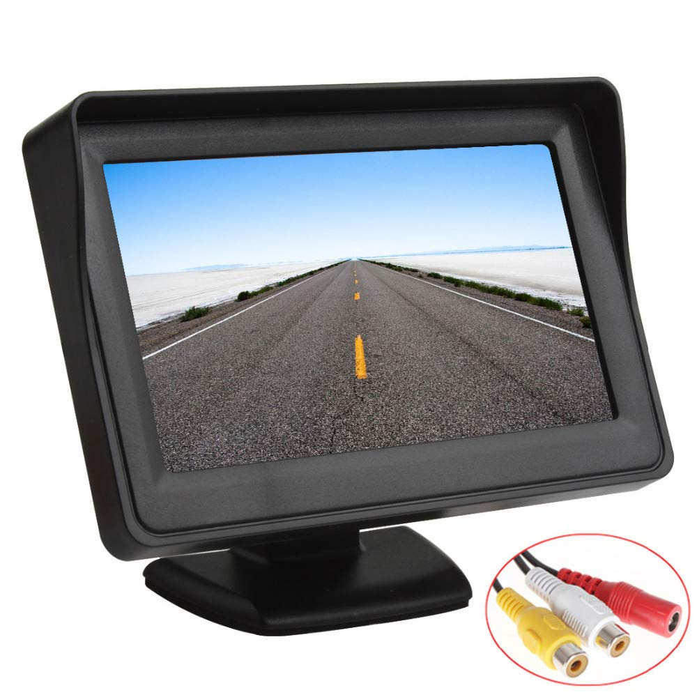 Trailer Misayaee 4.3 Inch Colour TFT Car Monitor Supports a Resolution of 480 /× 272 Reversing Camera System Suitable for: Bus//Trailer//Truck Van//RV//Camper//Car//Bus Trailer School Bus Lorry