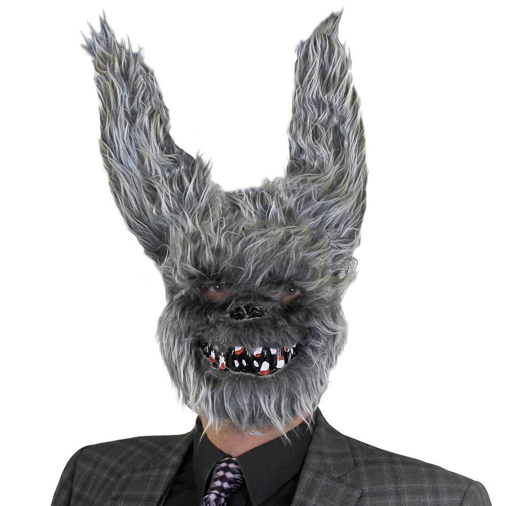 Adulto PELLICCIA FINTA Grigio BUNNY HALLOWEEN MASCHERA - PERFETTO accessorio per terrorizzante Vestito - Taglia unica - DISPONIBILE IN MULTIPLO Confezione taglie  di 1, da 3 6, 12 - X12