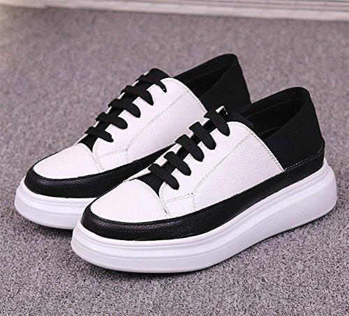 pesante donna focaccina scarpe fondo casual scarpe ascensore scarpe in da Ms scarpe white Autunno pizzo w1q01