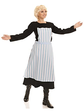 ladies maria the sound of music film musical 1960s 60s von trapp fancy dress costume outfit plus size 8 26 - Size 26 Halloween Costumes