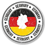 hiusan 2 x Deutschland Germany German Flag Map Vinyl Stickers Decals Travel Luggage Tag Lables Car Window Laptop Ipad Envenlop Stickers (10cm x 10cm)