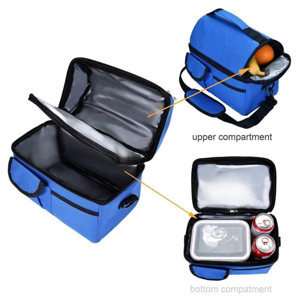 STRIR Bolsa Térmica con Doble Compartimentos Aislamiento,Multiuso ...