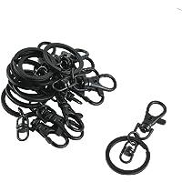 Baosity 10Pcs Black Swivel Trigger Clips Metal Lobster Clasp Hook Bag KeyRings DIY Jewelry Making