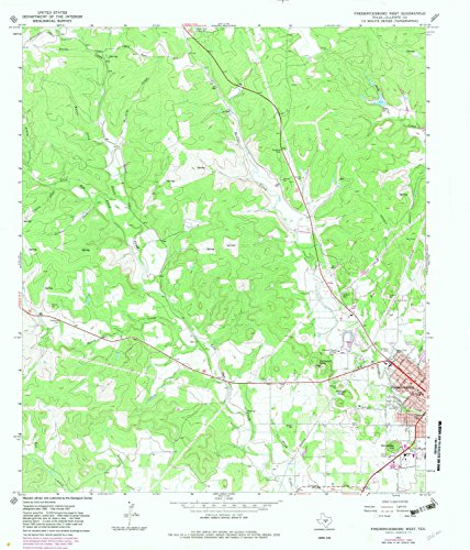 YellowMaps Fredericksburg West TX topo map, 1:24000 Scale, 7.5 X 7.5 Minute, Historical, 1967, Updated 1982, 26.9 x 23 in - Paper