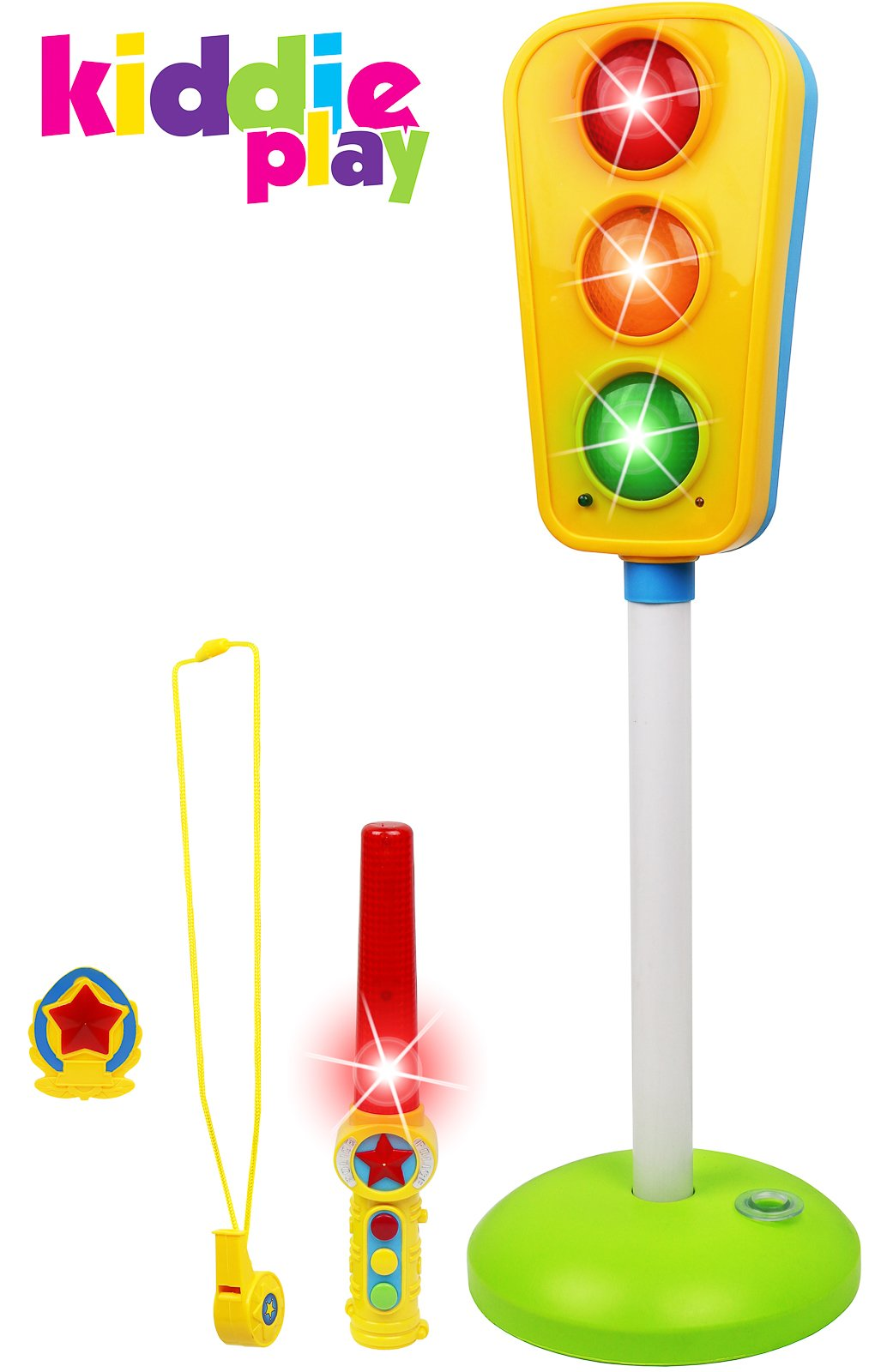 Kiddie Play Traffic Light Toy Kids Cars Bikes Lights Sounds