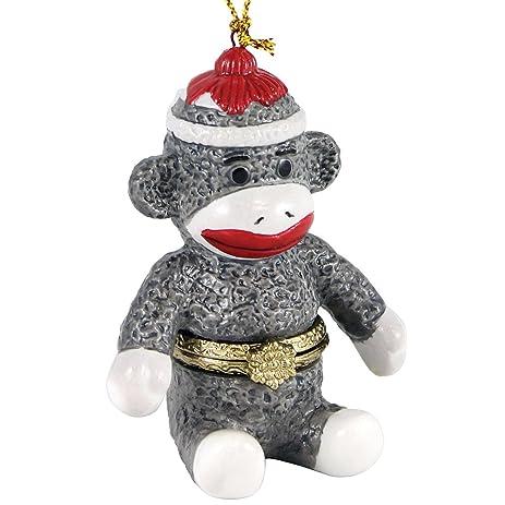 Amazon.com: Porcelain Secret Hidden Compartment Sock Monkey ...