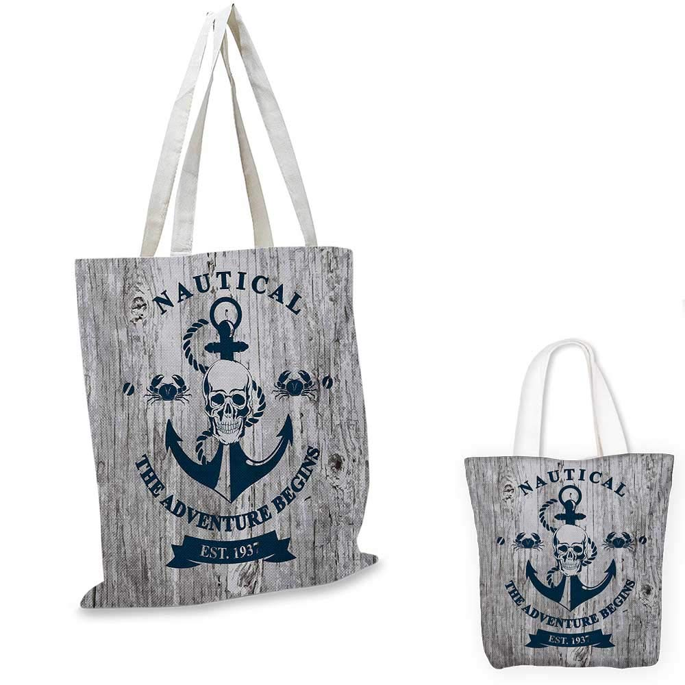 16x18-13 Anchor canvas messenger bag Anchors and Hearts Sweet Romantic Beach Holiday Party Gathering Leisure Tour canvas beach bag Vermilion Grey
