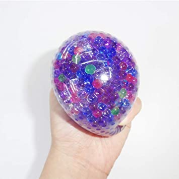 FJROnline Water Bead Squeeze Ball, 1PCS Bead Gel Anti Stress Ball Autism  Squeeze Fidget Sensory Orbeez Filled Toy for Anxiety Relief Adhd Autism,