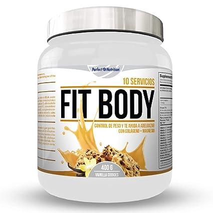 Batidos para Adelgazar sustitutivos de comida con proteínas Dieta quema grasas + colágeno/Batido de pérdida de peso completo (Vainilla - Cookies)
