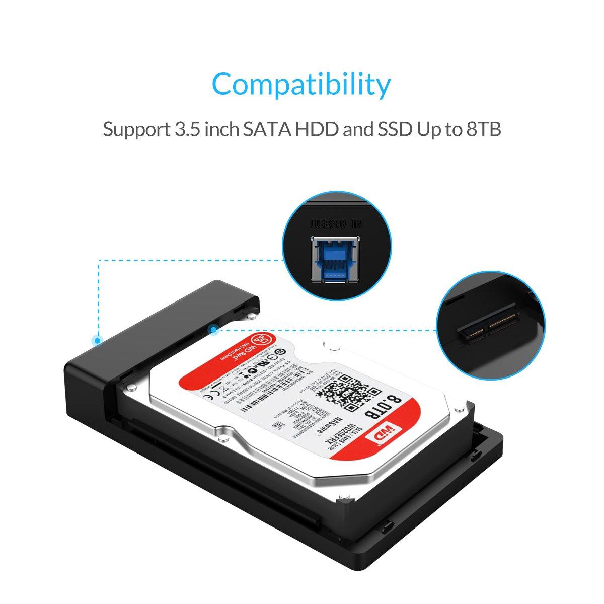 ORICO Carcasa para discos duros HDD de 3.5