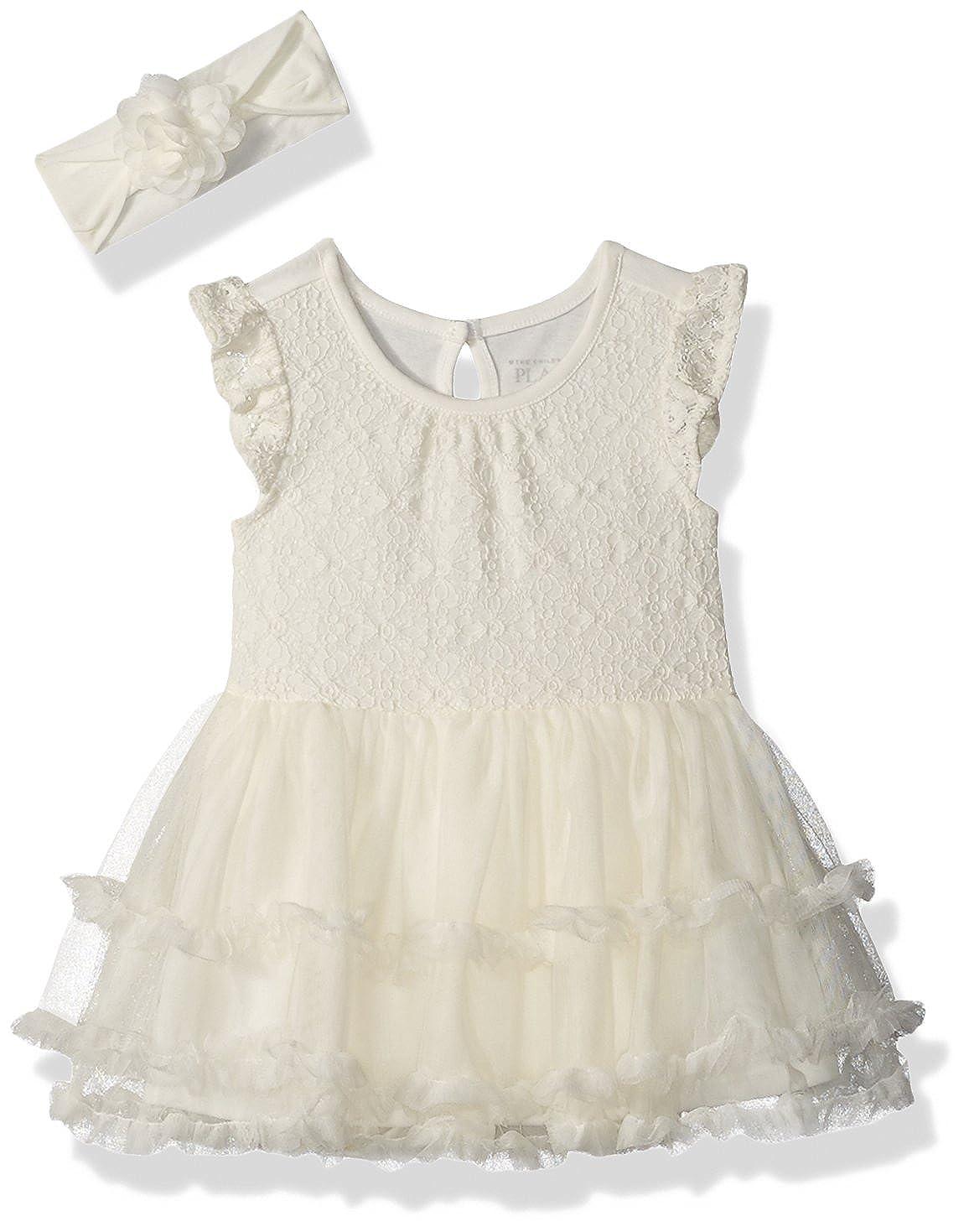edaa7526d Amazon.com: The Children's Place Baby Girls' Flutter Sleeve Dressy Dresses:  Clothing
