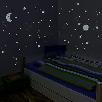Wandkings Glow in the Dark Decals Sun  Moon   Stars XL Set. Wandkings Glow in the Dark Decals Sun  Moon   Stars XL Set 114