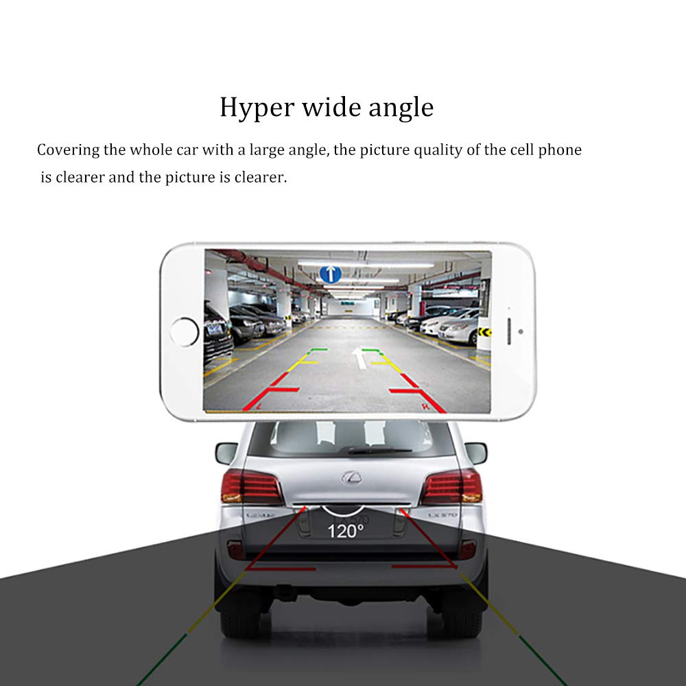 Podofo WiFi Reversing Camera 1080P Full HD Night Vision Wireless Backup Camera Waterproof Wide Angle Car Rear View Camera for Android//iOS Smart Phone A2157 US