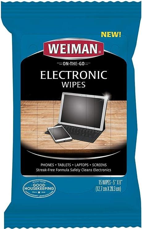 Weiman 593 toallitas-no tóxico Limpiar de Forma Segura su portátil ...