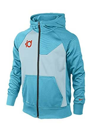 Nike Men's Therma-Fit KD Surge Elite Full Zip Hoodie-Light Blue-XL