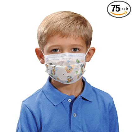 0cc52c29e9 Halyard Child's Masks, Pediatric, Child, Disney Print 32856 (Box of 75):  Amazon.com: Industrial & Scientific