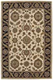 Nourison India House (IH60) Beige Rectangle Area Rug, 3-Feet 6-Inches by 5-Feet 6-Inches (3'6'' x 5'6'')