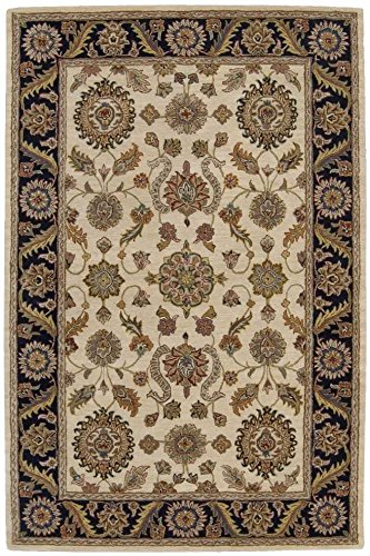 Nourison India House (IH60) Beige Rectangle Area Rug, 5-Feet by 8-Feet  (5' x 8')