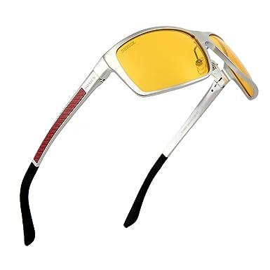 48df9626ad Night Driving Glasses Anti Glare Anti Fog Polarized HD Glasses For Night  Safety (Silver)